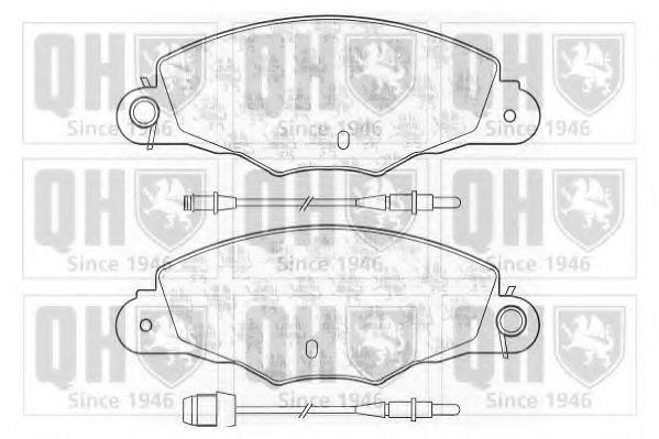 Комплект тормозных колодок, дисковый тормоз QUINTON HAZELL BP1077
