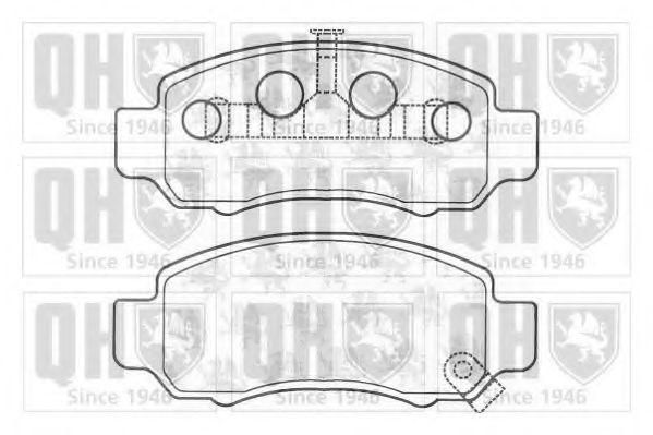 Комплект тормозных колодок, дисковый тормоз QUINTON HAZELL BP1146
