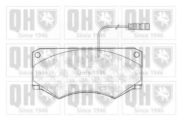 Комплект тормозных колодок, дисковый тормоз QUINTON HAZELL BP1153