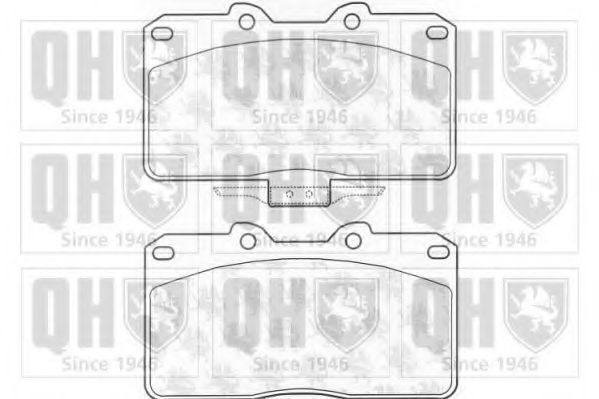 Комплект тормозных колодок, дисковый тормоз QUINTON HAZELL BP1162