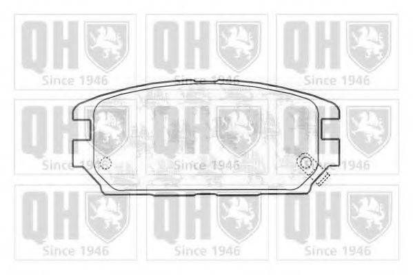 Комплект тормозных колодок, дисковый тормоз QUINTON HAZELL BP1163