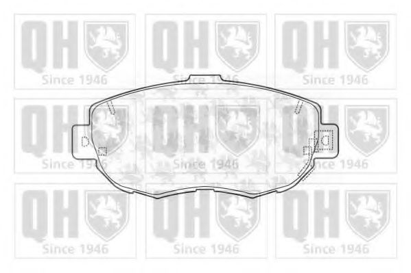 Комплект тормозных колодок, дисковый тормоз QUINTON HAZELL BP1164