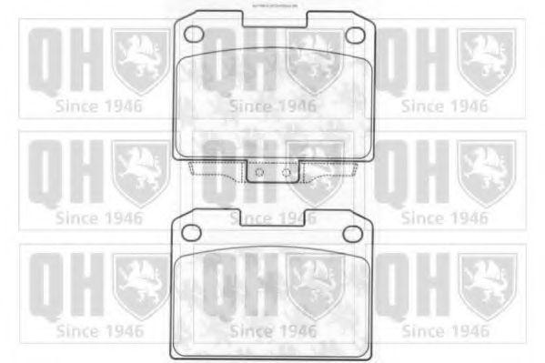 Комплект тормозных колодок, дисковый тормоз QUINTON HAZELL BP1186