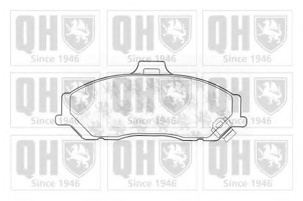 Комплект тормозных колодок, дисковый тормоз QUINTON HAZELL BP1215