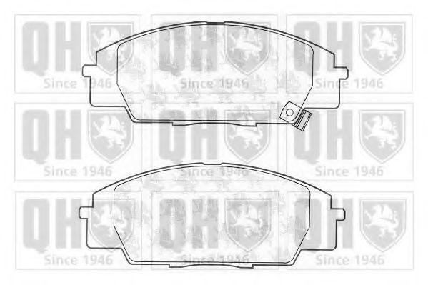 Комплект тормозных колодок, дисковый тормоз QUINTON HAZELL BP1219