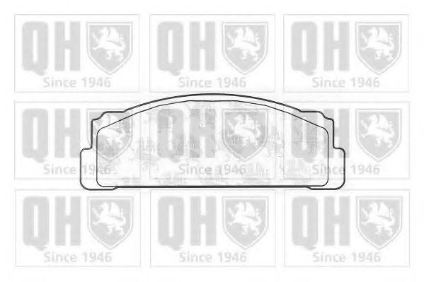 Комплект тормозных колодок, дисковый тормоз QUINTON HAZELL BP125