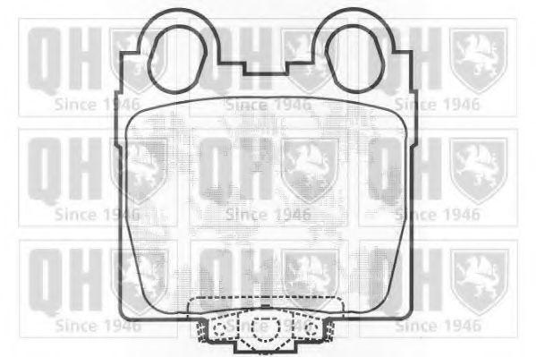 Колодки тормозные QUINTON HAZELL BP1252