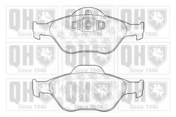 Комплект тормозных колодок, дисковый тормоз QUINTON HAZELL BP1261