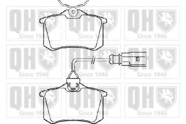 Колодки тормозные QUINTON HAZELL BP1280