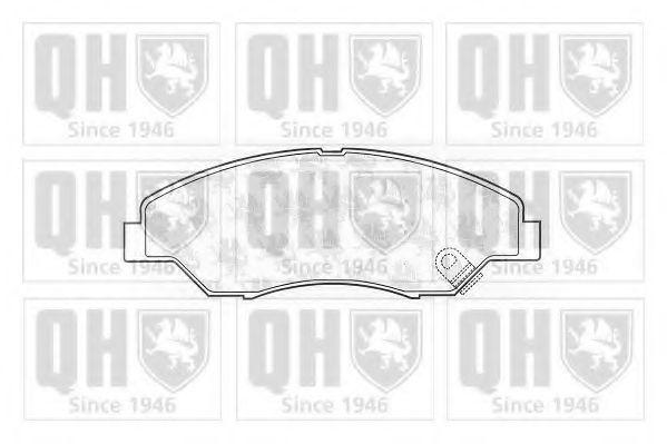 Комплект тормозных колодок, дисковый тормоз QUINTON HAZELL BP1287