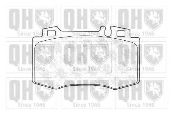 Комплект тормозных колодок, дисковый тормоз QUINTON HAZELL BP1297