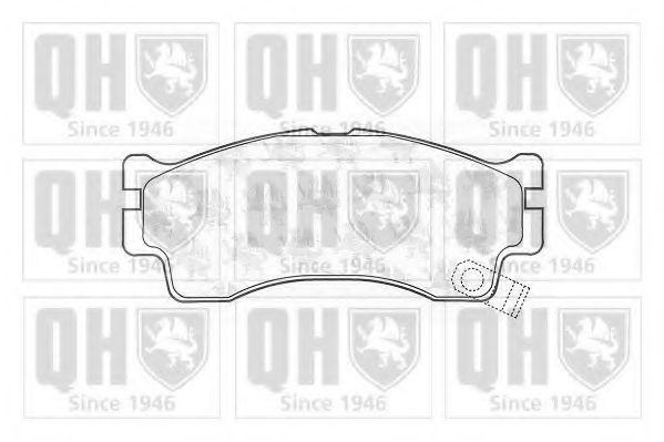 Комплект тормозных колодок, дисковый тормоз QUINTON HAZELL BP1312