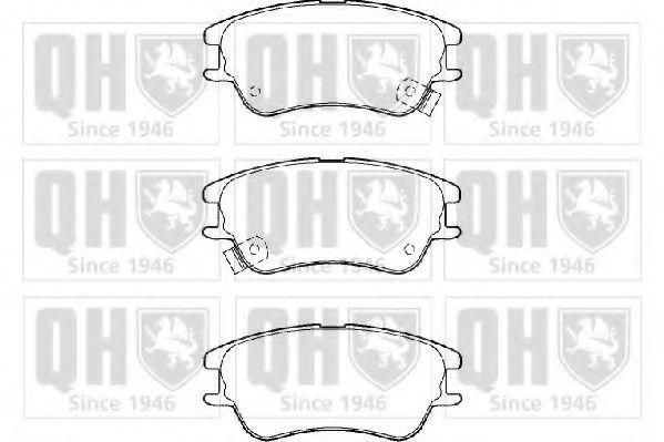 Комплект тормозных колодок, дисковый тормоз QUINTON HAZELL BP1384