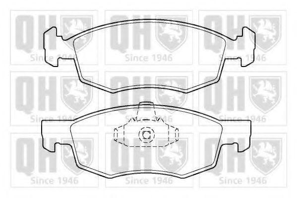 Колодки тормозные QUINTON HAZELL BP1402