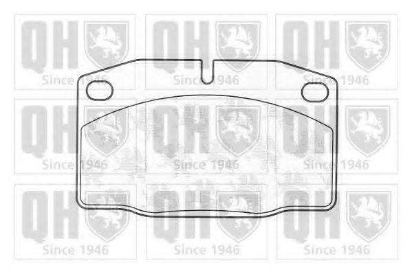 Комплект тормозных колодок, дисковый тормоз QUINTON HAZELL BP141