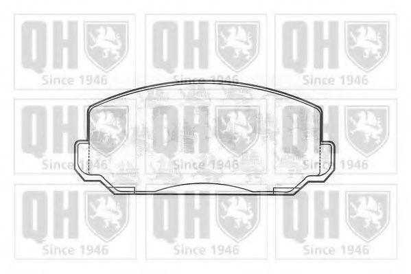 Комплект тормозных колодок, дисковый тормоз QUINTON HAZELL BP156