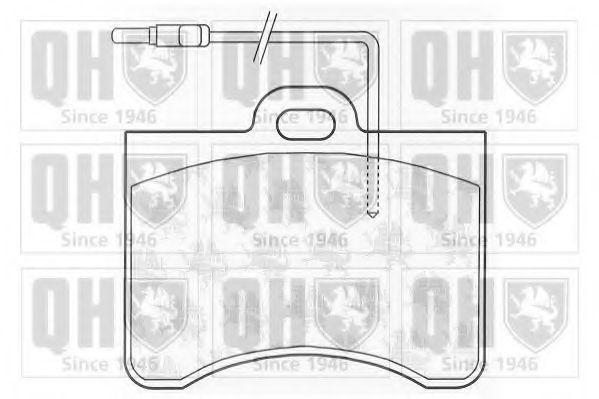 Комплект тормозных колодок, дисковый тормоз QUINTON HAZELL BP167