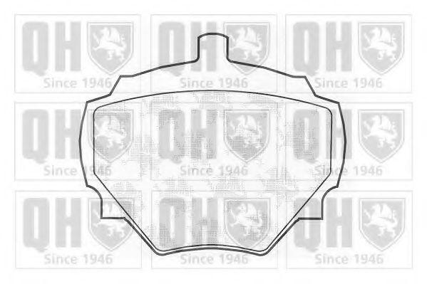 Комплект тормозных колодок, дисковый тормоз QUINTON HAZELL BP169