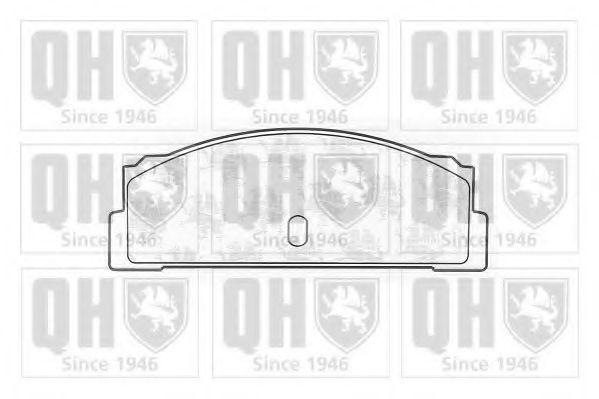 Комплект тормозных колодок, дисковый тормоз QUINTON HAZELL BP186