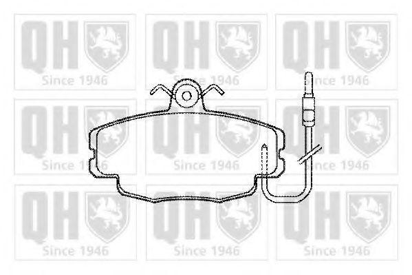 Комплект тормозных колодок, дисковый тормоз QUINTON HAZELL BP200