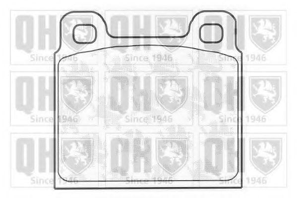 Комплект тормозных колодок, дисковый тормоз QUINTON HAZELL BP215