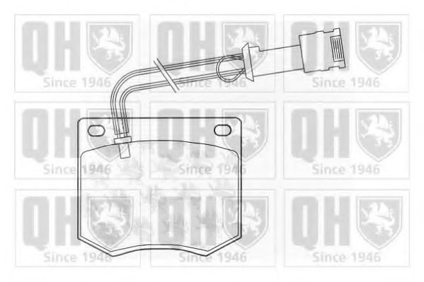 Комплект тормозных колодок, дисковый тормоз QUINTON HAZELL BP219