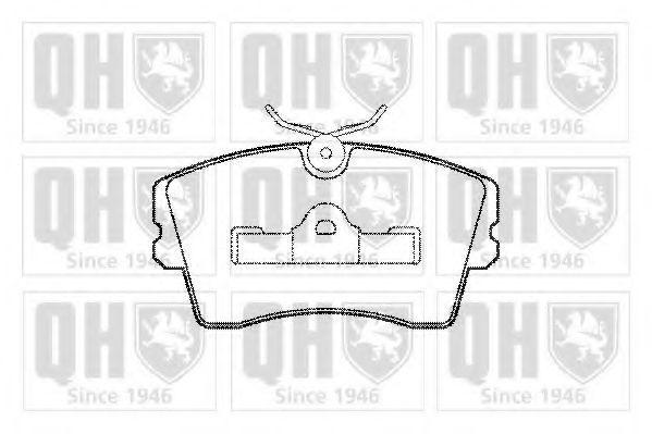 Комплект тормозных колодок, дисковый тормоз QUINTON HAZELL BP363