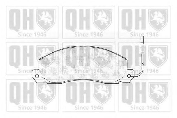Комплект тормозных колодок, дисковый тормоз QUINTON HAZELL BP371