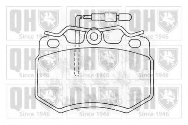 Комплект тормозных колодок, дисковый тормоз QUINTON HAZELL BP377