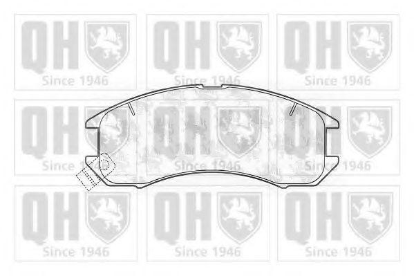 Комплект тормозных колодок, дисковый тормоз QUINTON HAZELL BP427