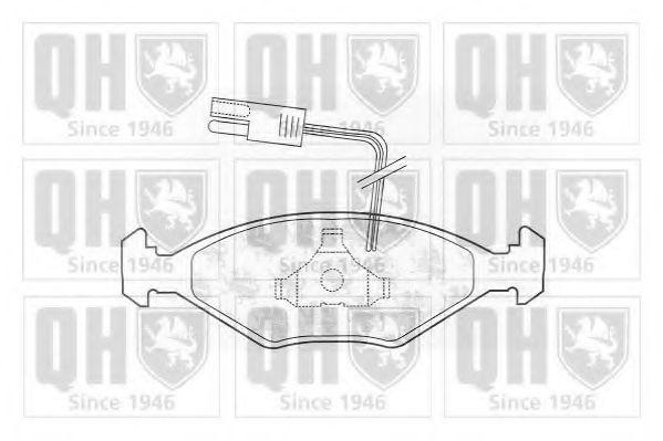 Комплект тормозных колодок, дисковый тормоз QUINTON HAZELL BP545