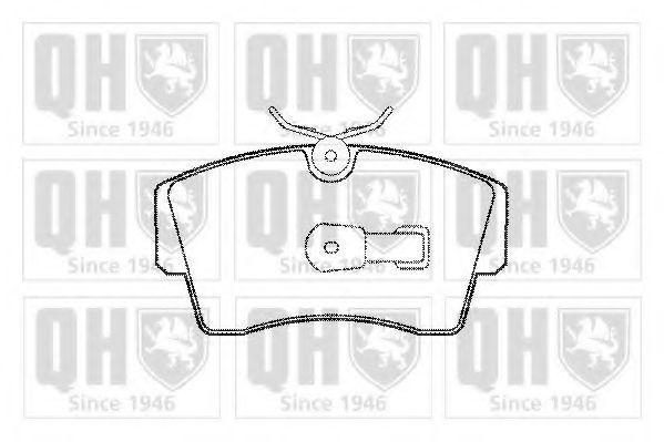 Комплект тормозных колодок, дисковый тормоз QUINTON HAZELL BP546