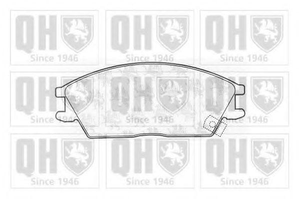 Комплект тормозных колодок, дисковый тормоз QUINTON HAZELL BP552