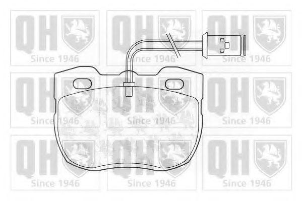 Колодки тормозные QUINTON HAZELL BP559