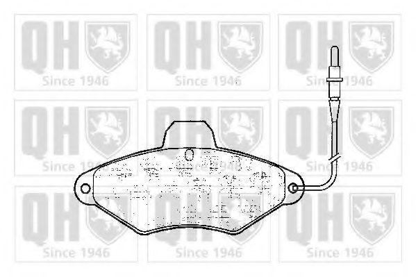 Комплект тормозных колодок, дисковый тормоз QUINTON HAZELL BP597