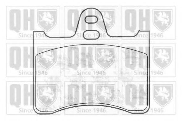 Комплект тормозных колодок, дисковый тормоз QUINTON HAZELL BP625