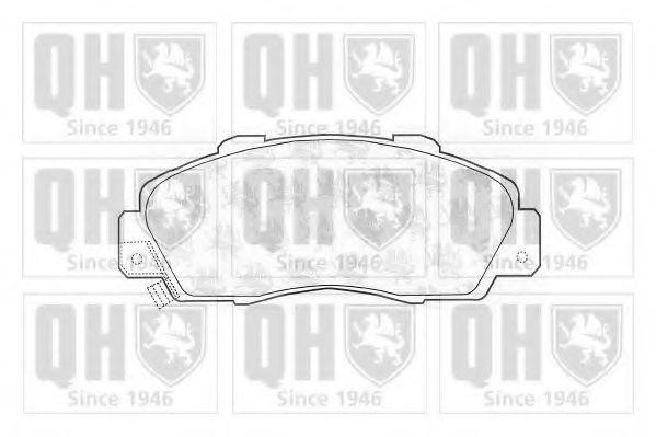 Комплект тормозных колодок, дисковый тормоз QUINTON HAZELL BP703