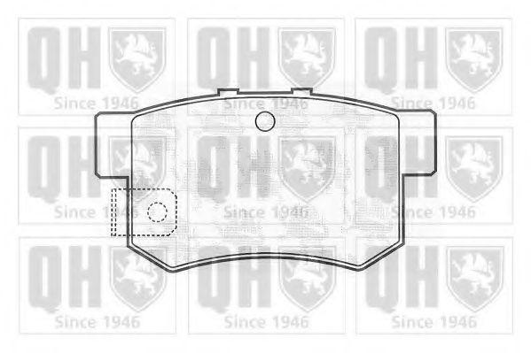 Комплект тормозных колодок, дисковый тормоз QUINTON HAZELL BP704