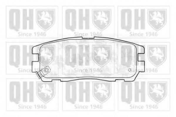 Комплект тормозных колодок, дисковый тормоз QUINTON HAZELL BP792