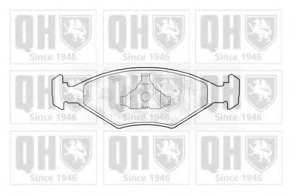 Комплект тормозных колодок, дисковый тормоз QUINTON HAZELL BP977