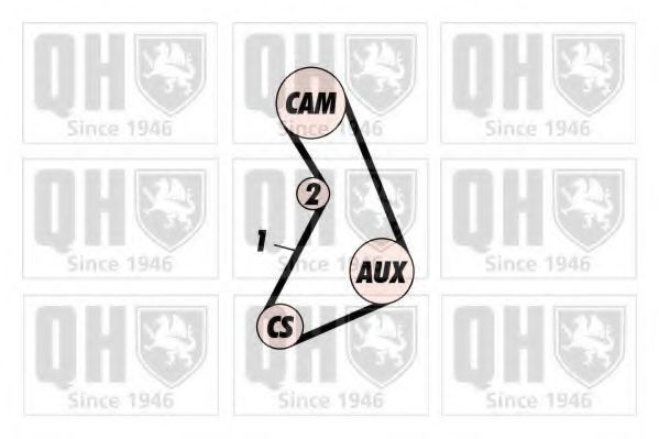 Ремень ГРМ QUINTON HAZELL QTB114