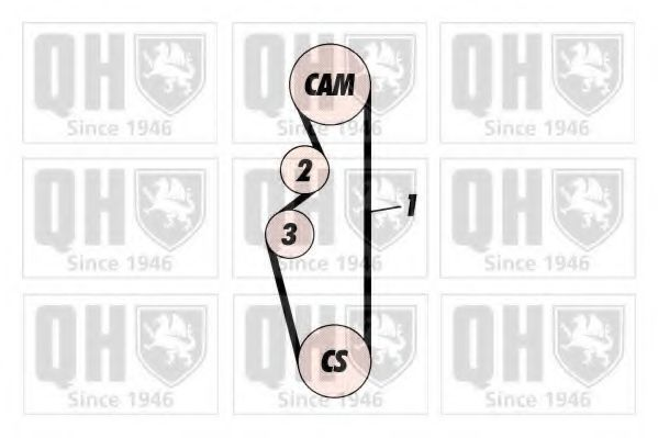 Ремень ГРМ QUINTON HAZELL QTB373