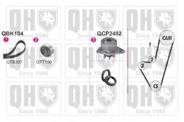 Водяной насос + комплект зубчатого ремня QUINTON HAZELL QBPK1040
