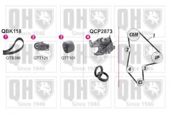 Водяной насос + комплект зубчатого ремня QUINTON HAZELL QBPK1180