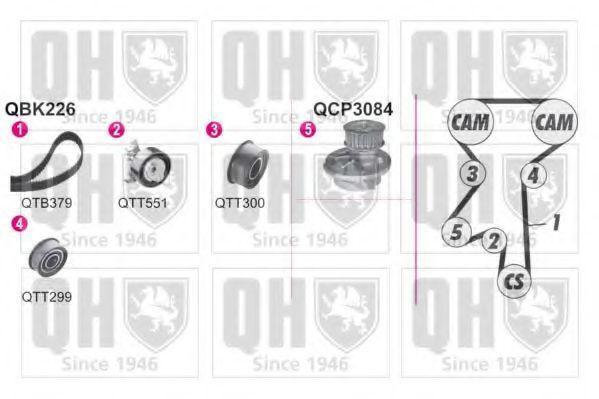 Водяной насос + комплект зубчатого ремня QUINTON HAZELL QBPK2260