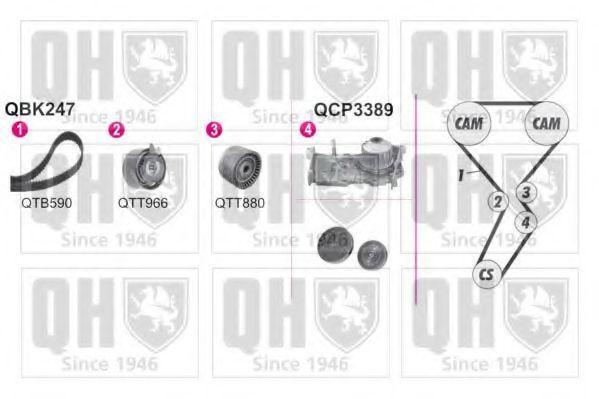 Водяной насос + комплект зубчатого ремня QUINTON HAZELL QBPK2470