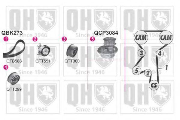 Водяной насос + комплект зубчатого ремня QUINTON HAZELL QBPK2730
