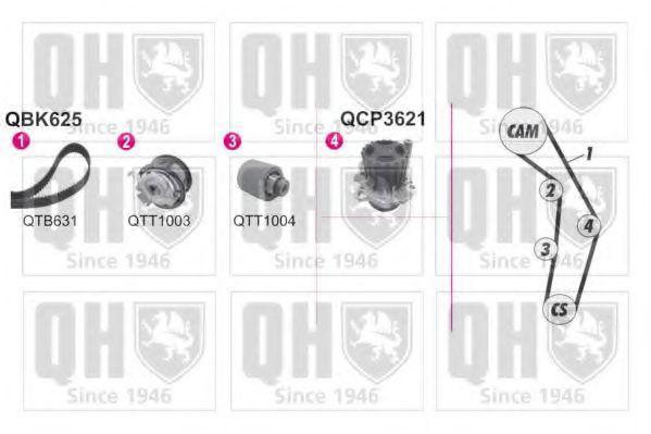 Водяной насос + комплект зубчатого ремня QUINTON HAZELL QBPK6251
