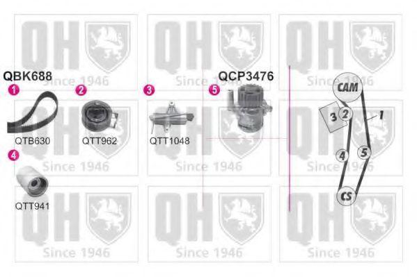 Водяной насос + комплект зубчатого ремня QUINTON HAZELL QBPK6880