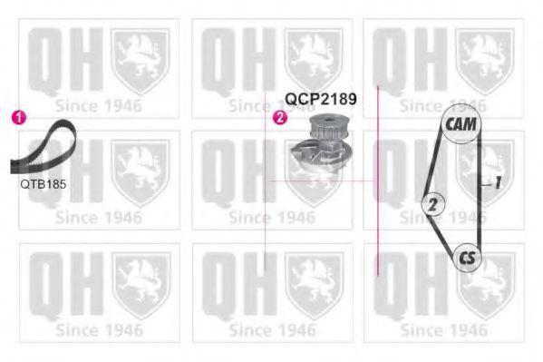 Водяной насос + комплект зубчатого ремня QUINTON HAZELL QBPK9019